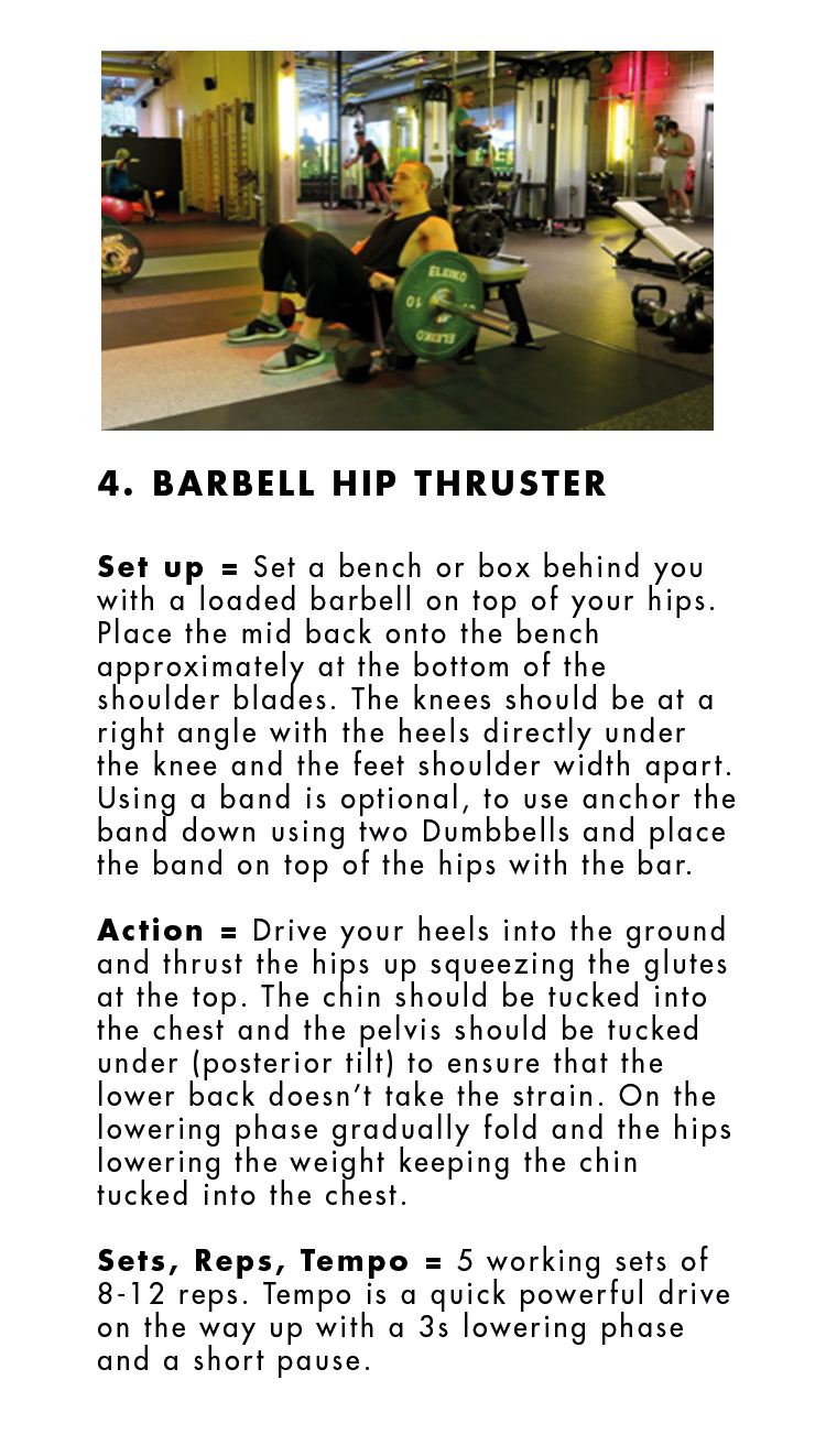 4 - Barbell Hip Thruster