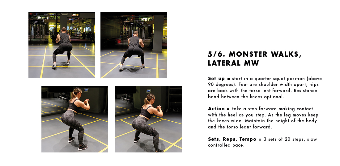 Exercise 5/6 - Monster Walks, Lateral MW